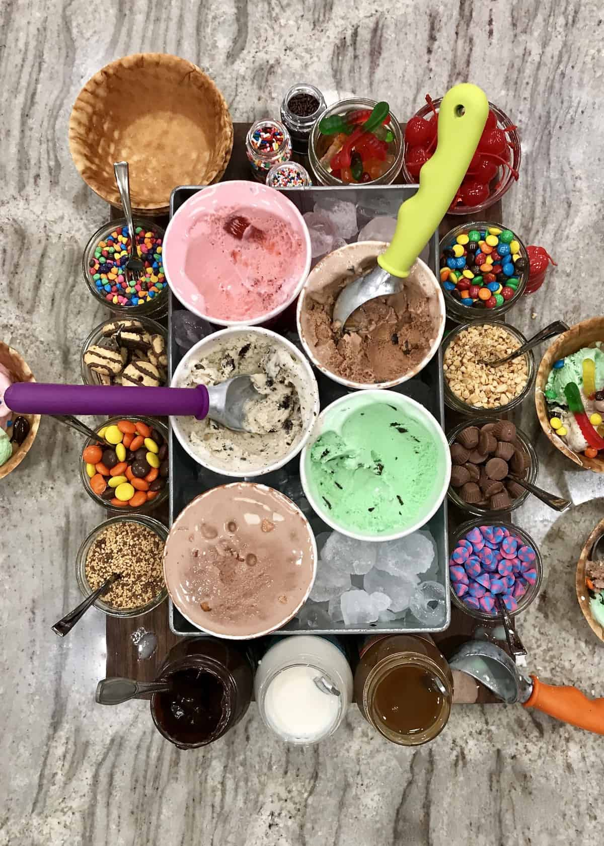 Build-Your-Own Ice Cream Sundae Board by The BakerMama