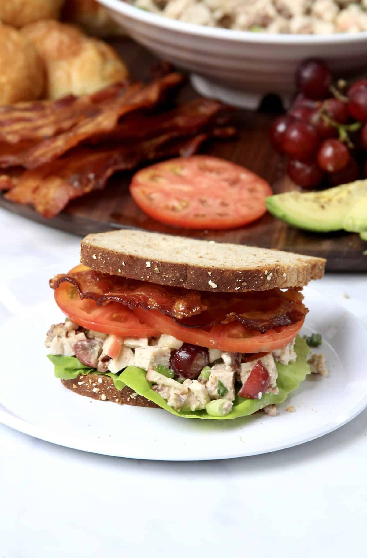 Build-Your-Own Chicken Salad Sandwich Board by The BakerMama