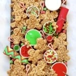 No-Bake Gingerbread Men Decorating Board by The BakerMama