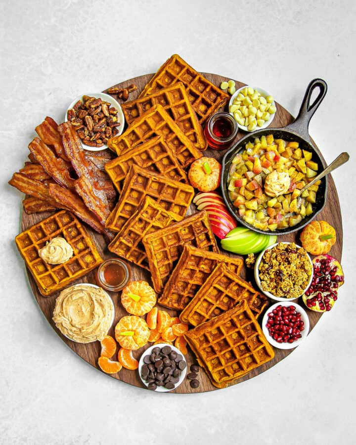 Pumpkin Waffle Board by The BakerMama