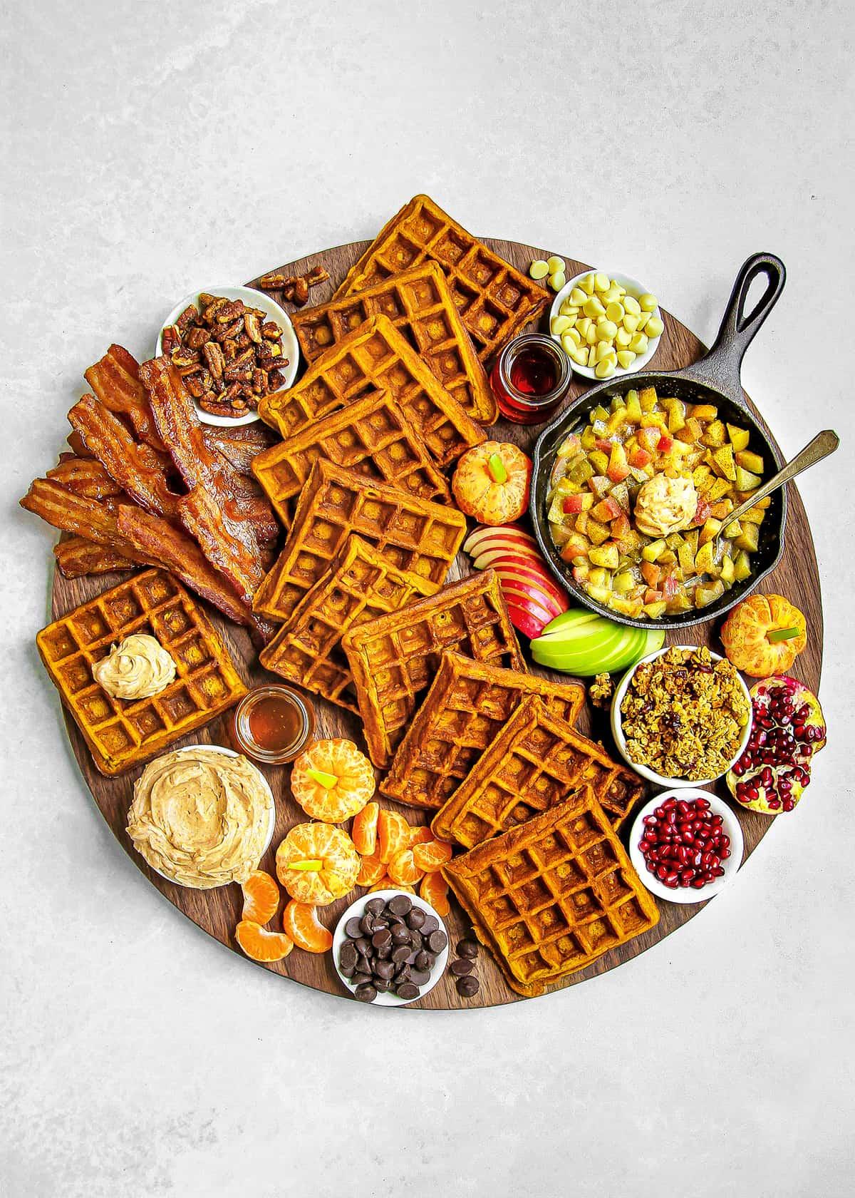 Pumpkin Waffle Board by The BakerMama