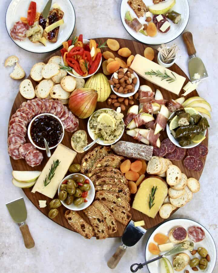 Holiday Cheese and Charcuterie Board by The BakerMama with Harry & David