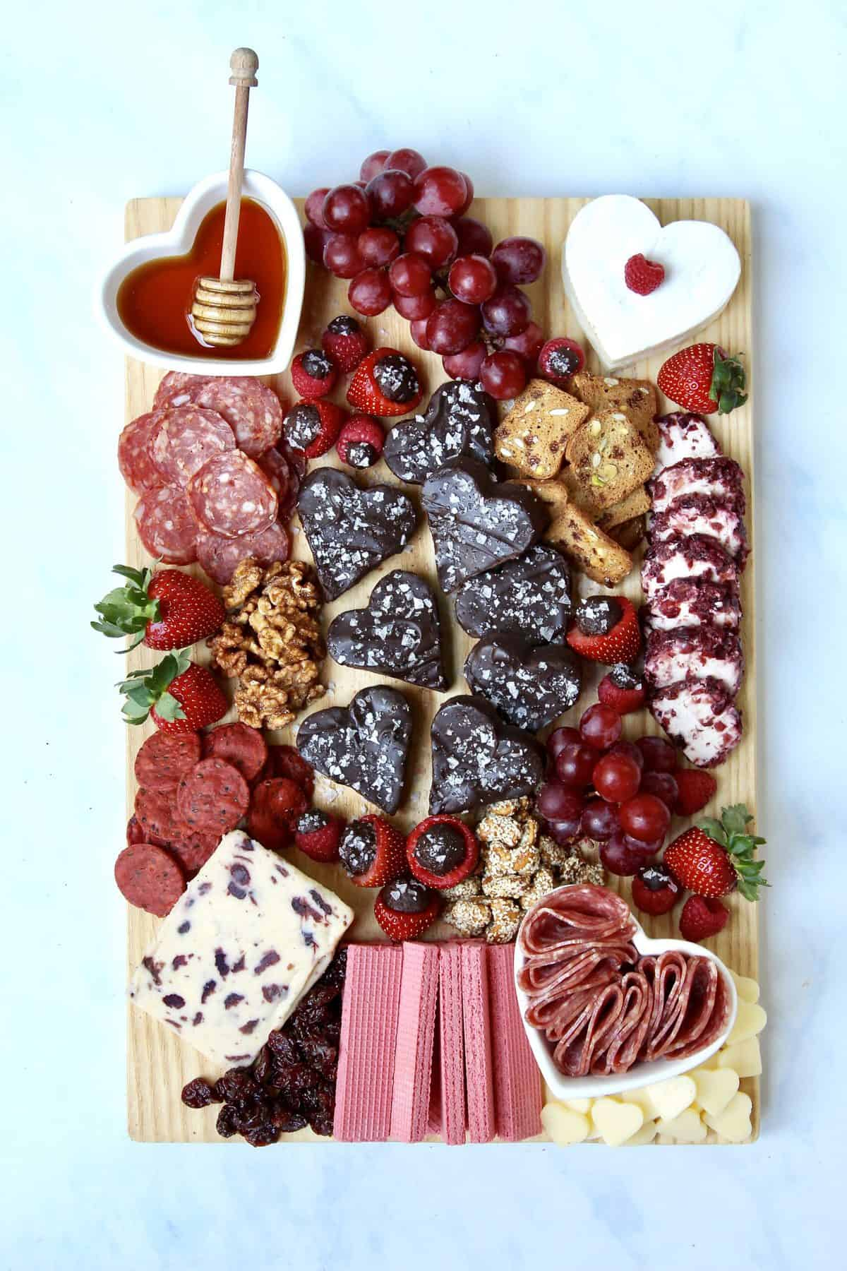Galentine's Fudge and Cheese Board by The BakerMama