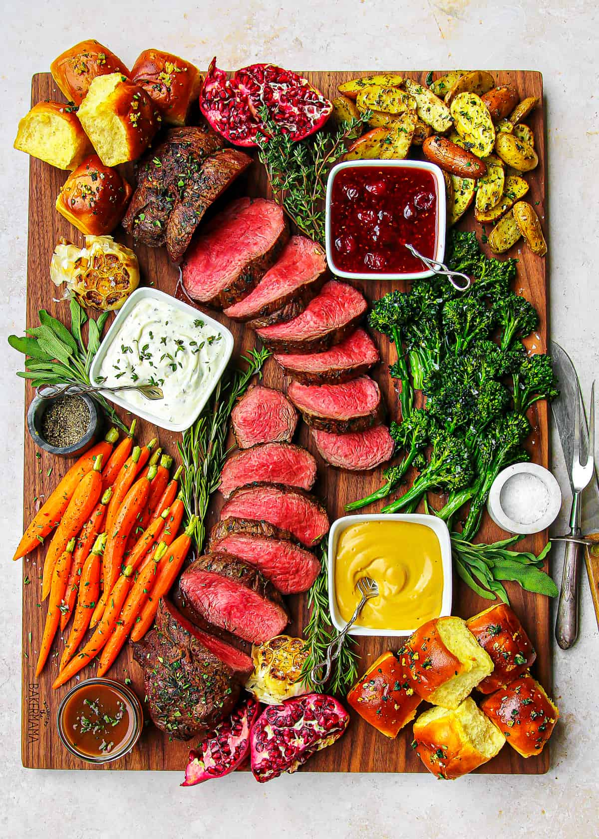 Beef Tenderloin Board by The BakerMama
