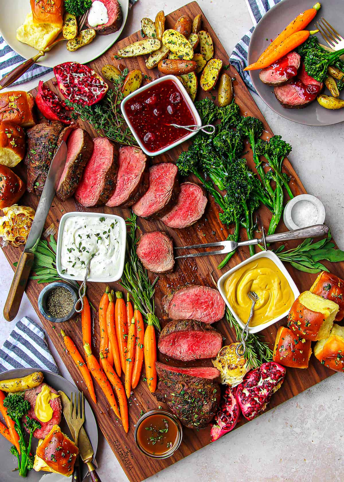 Roasted Beef Tenderloin Board by The BakerMama
