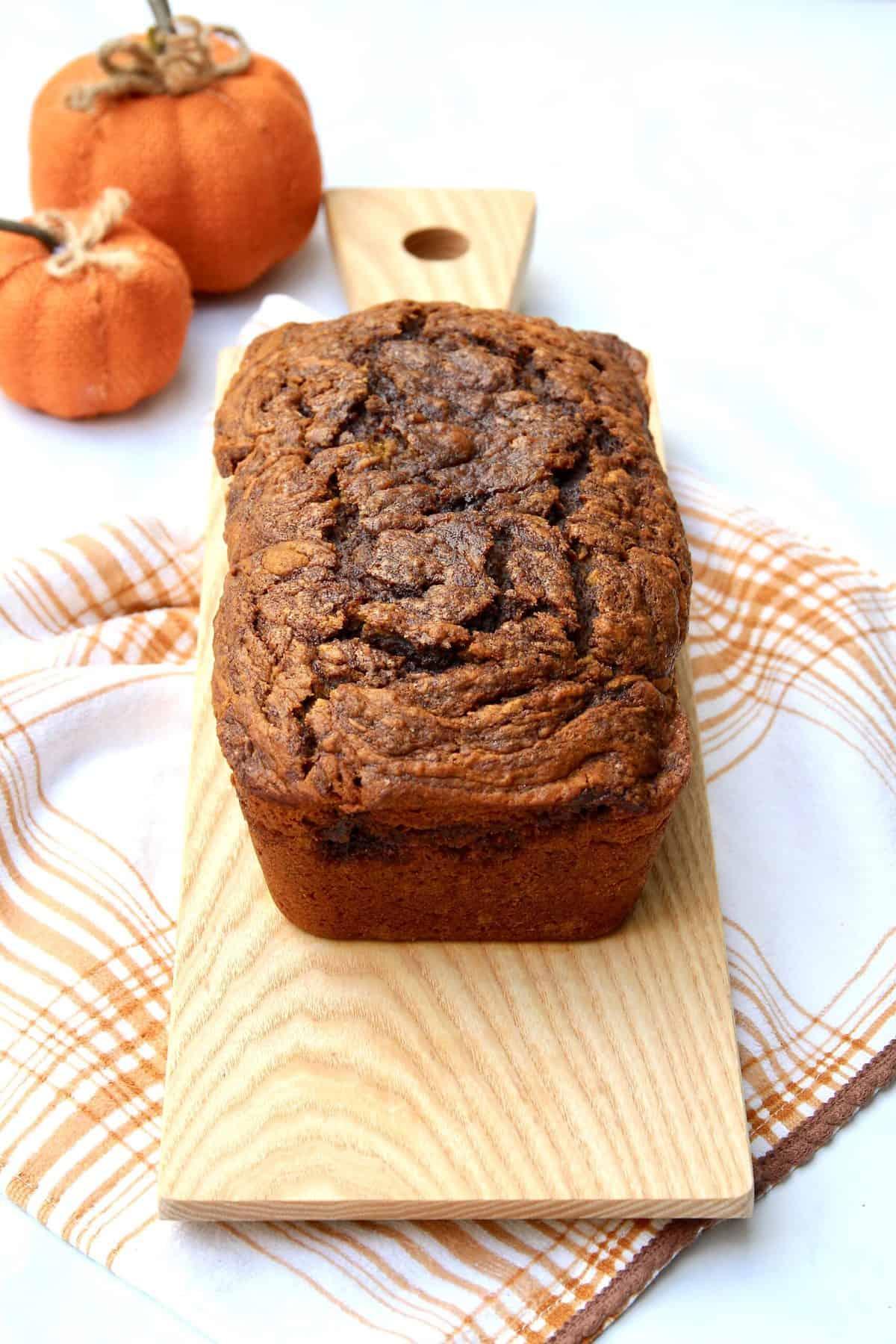 Cinnamon Swirled Pumpkin Bread
