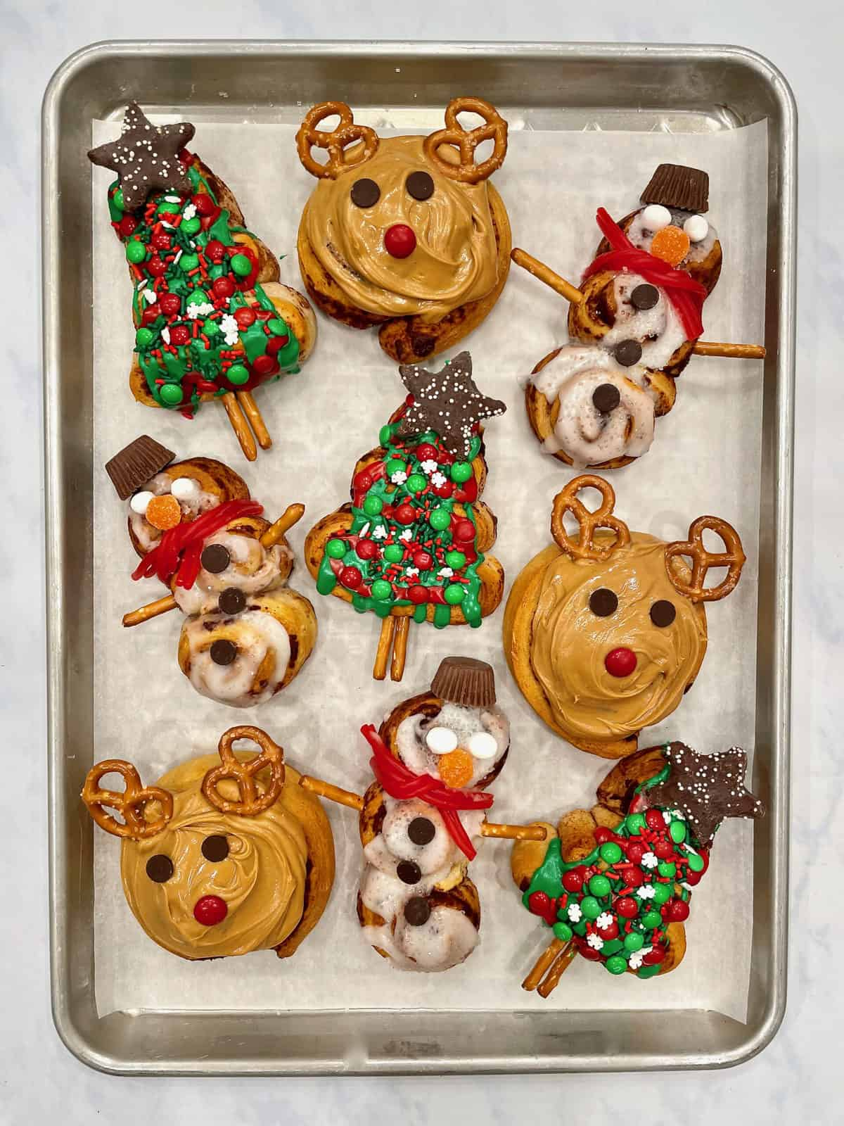 Festive Christmas-Shaped Cinnamon Rolls