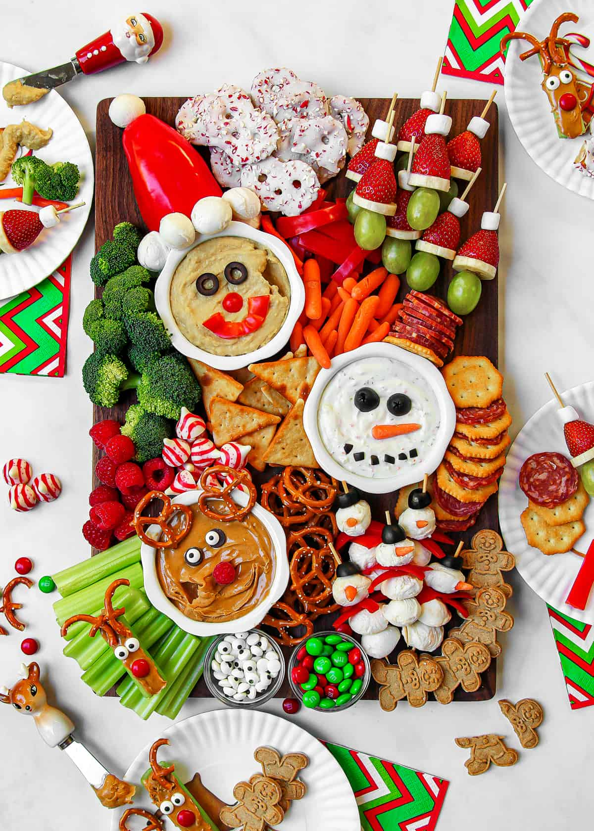 Holly Jolly Kid's Snack Board by The BakerMama