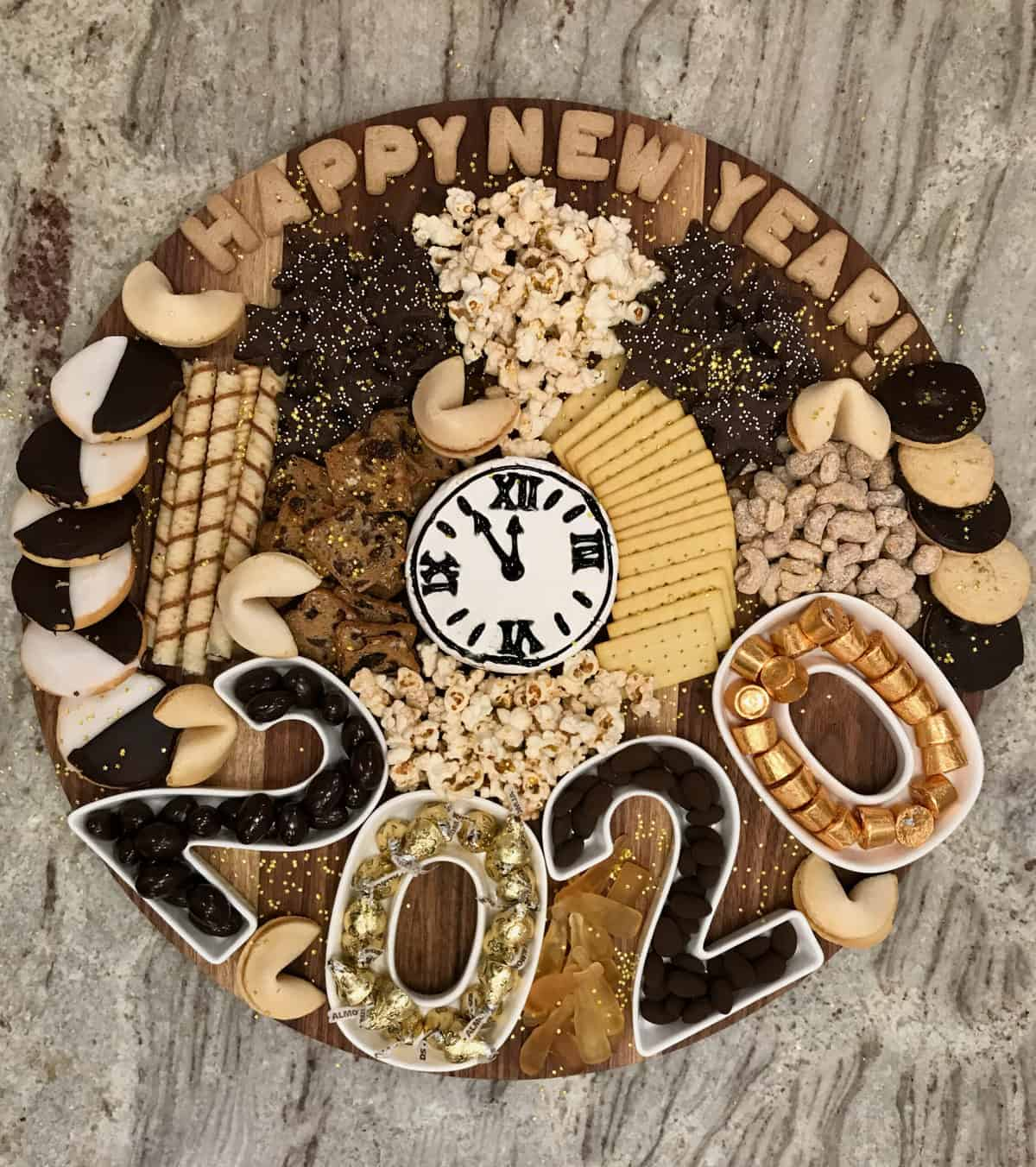 Happy New Year Snack Board by The BakerMama