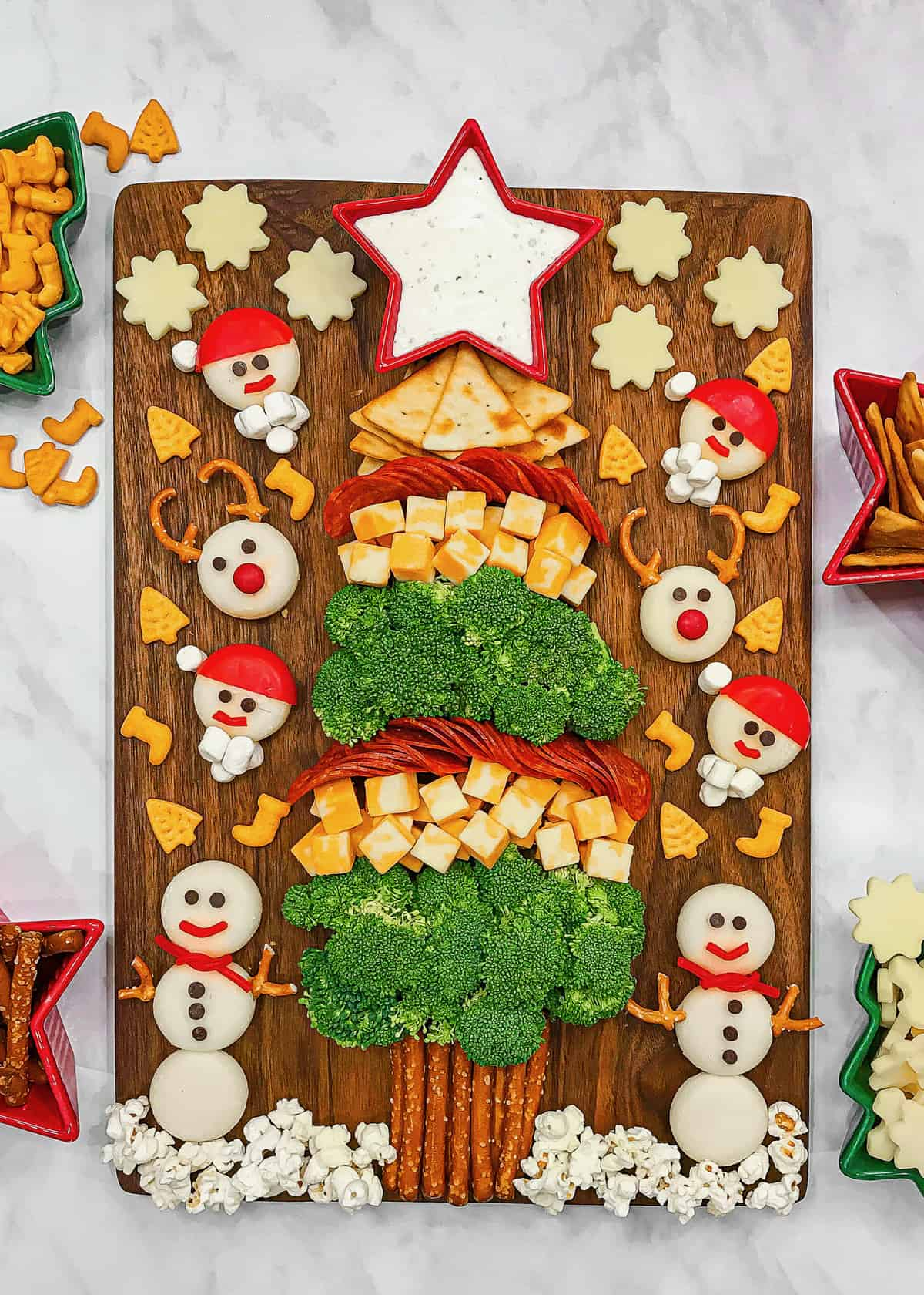 Kid's Christmas Tree Snack Board by The BakerMama
