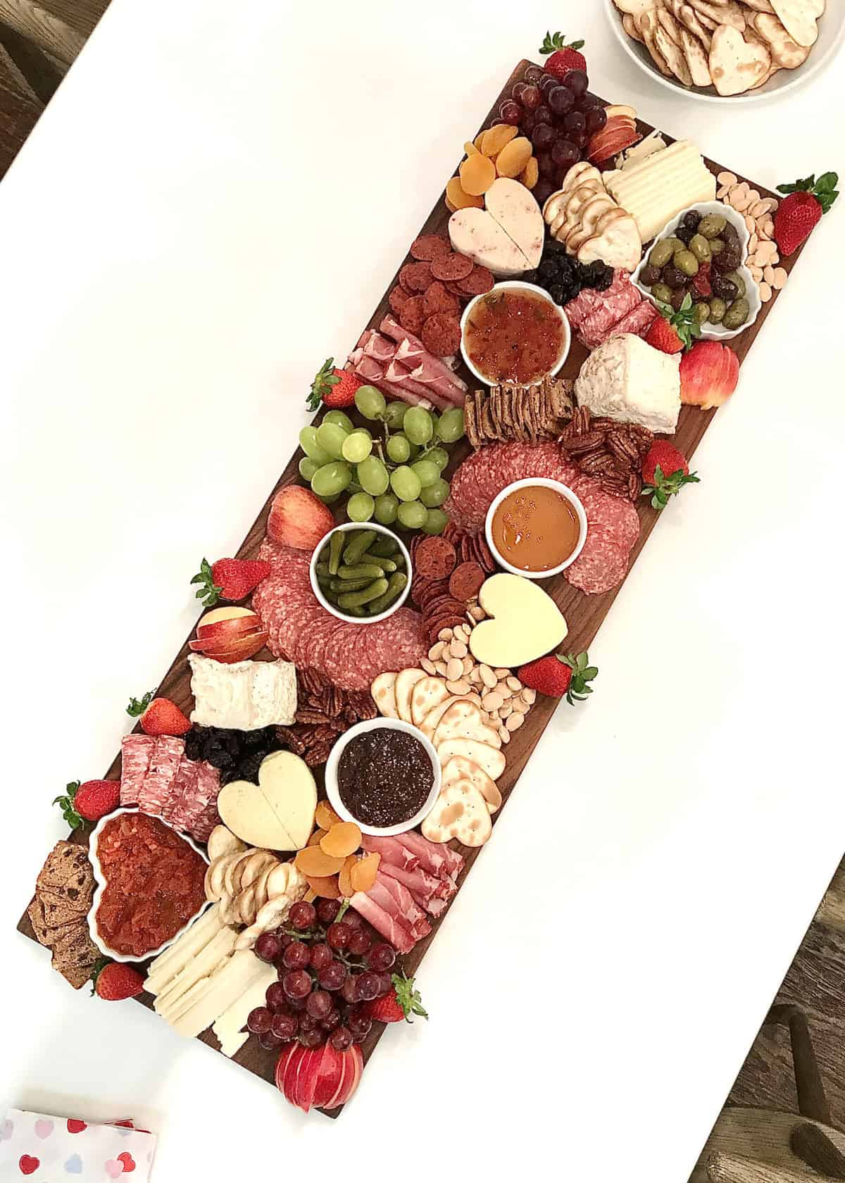 Valentine's Day Cheese & Charcuterie Board by The BakerMama