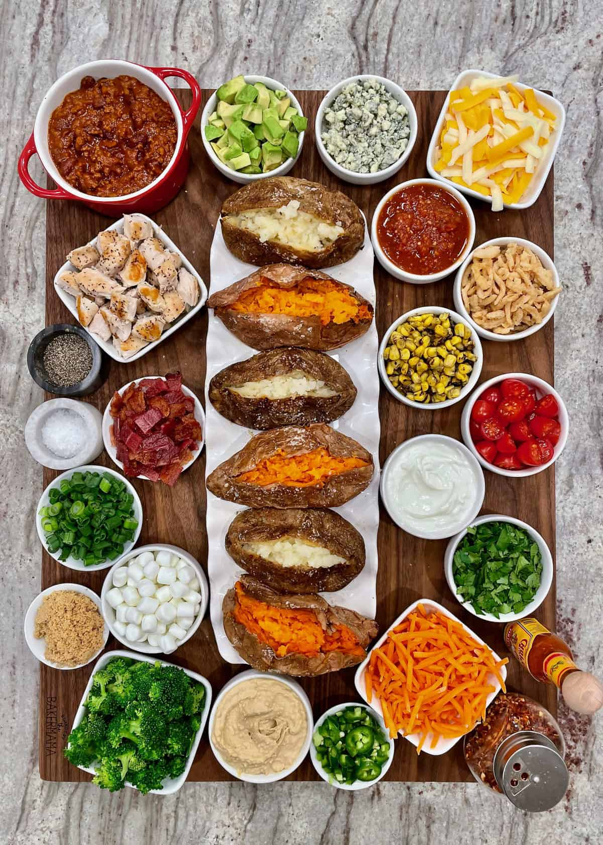 Build-Your-Own Baked Potato Board by The BakerMama