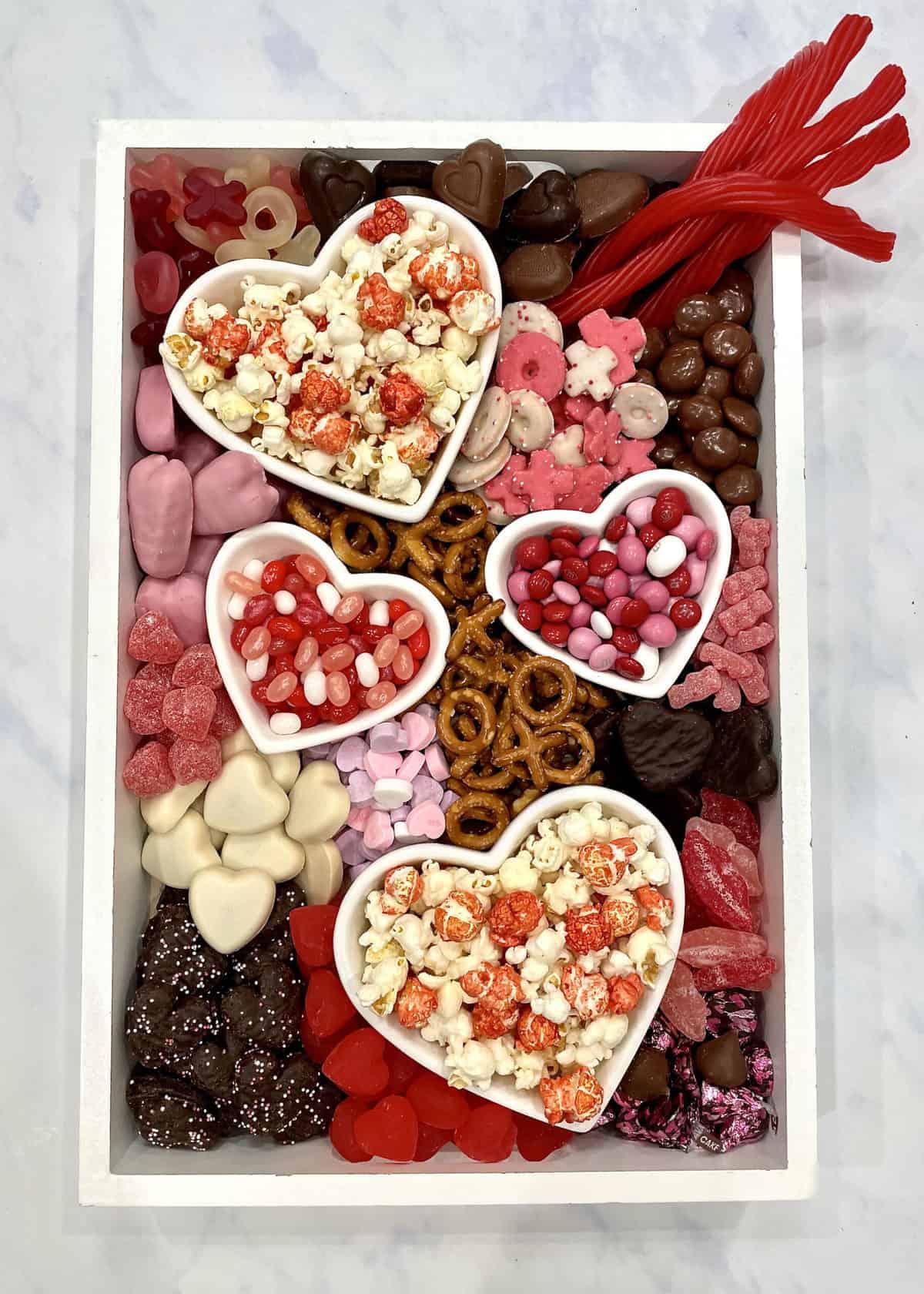 Valentine's Day Movie Night Snack Board By The BakerMama