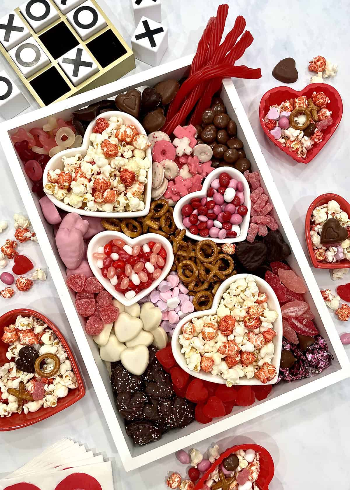 Valentine's Day Movie Night Snack Board By The BakerMama