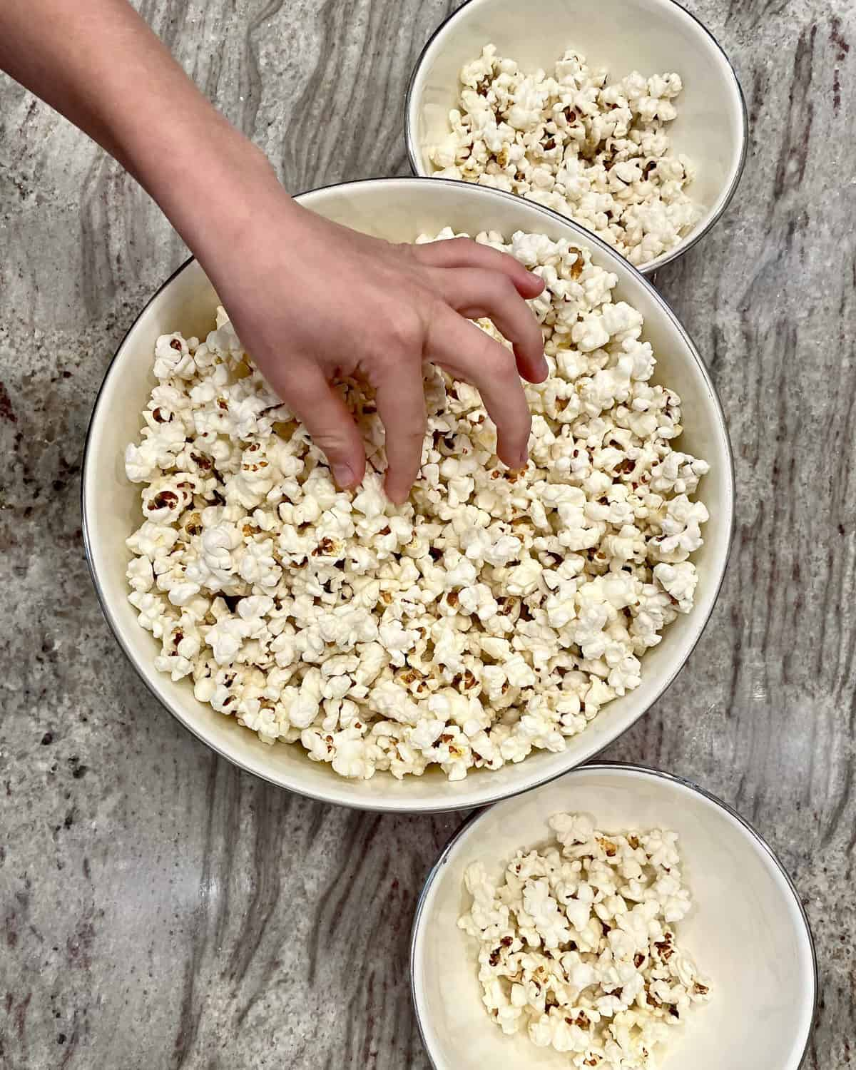 Bowl of Stovetop Popcorn