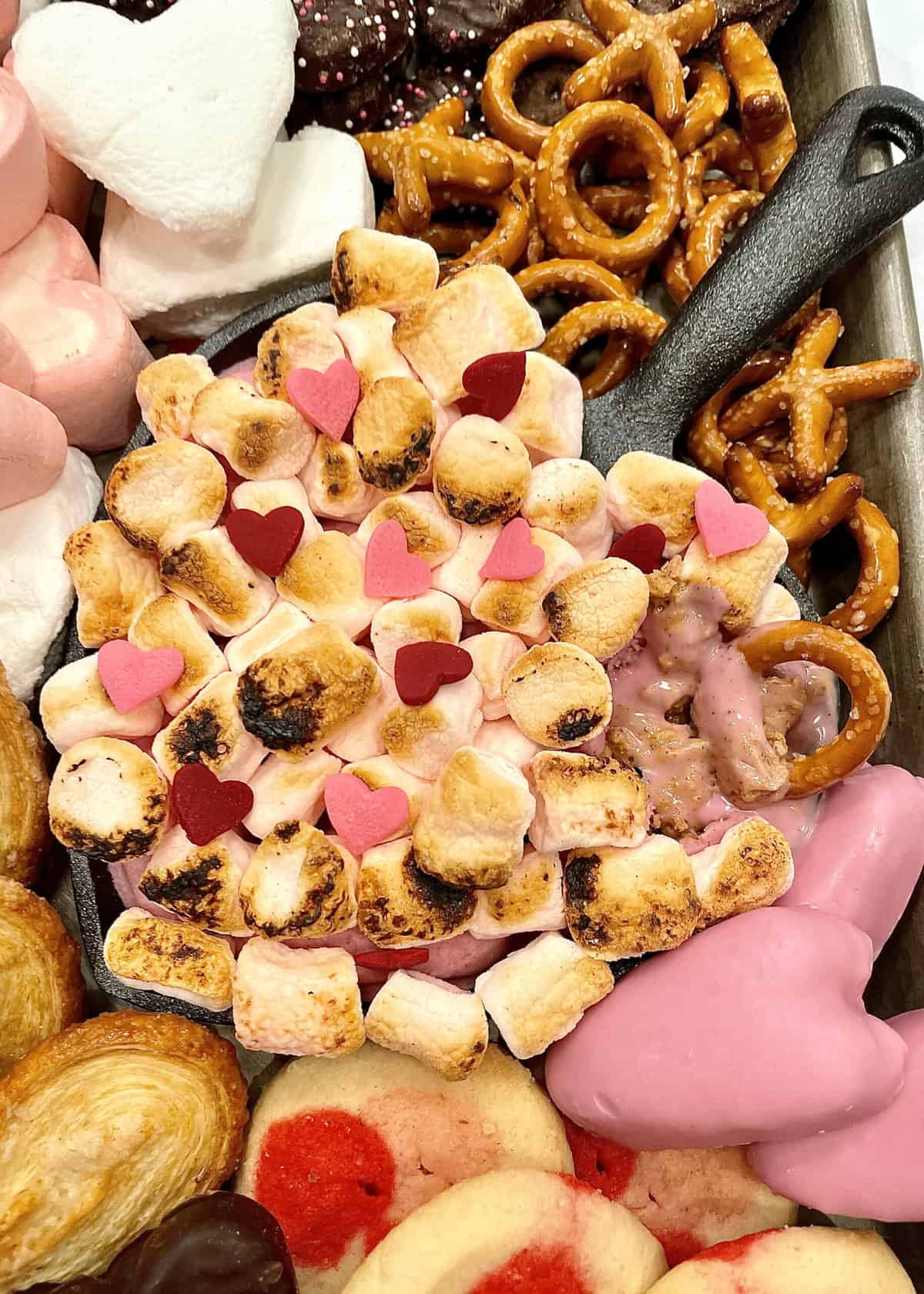 Pink Peanut Butter S'mores Dip by The BakerMama