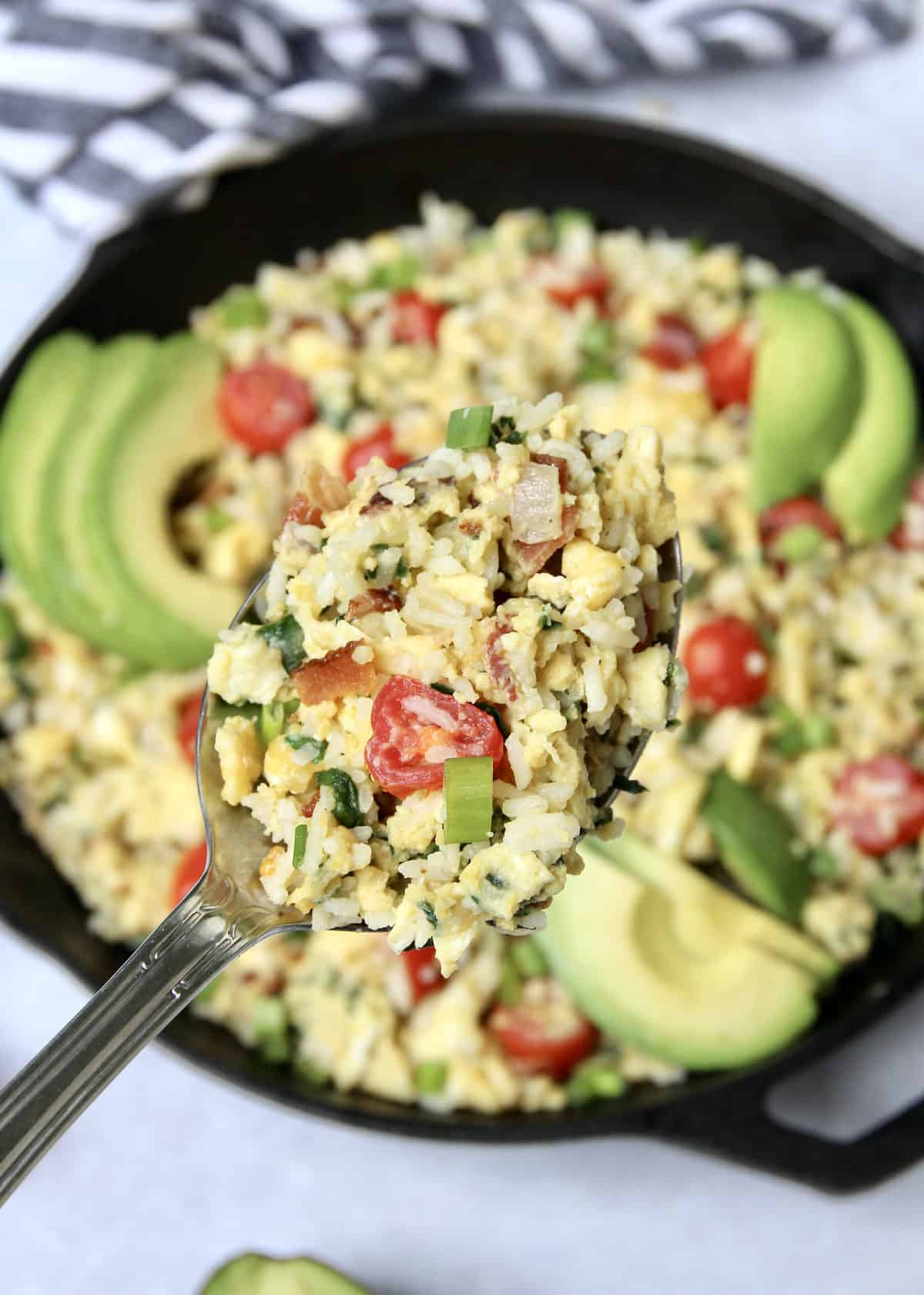Breakfast Rice Scramble