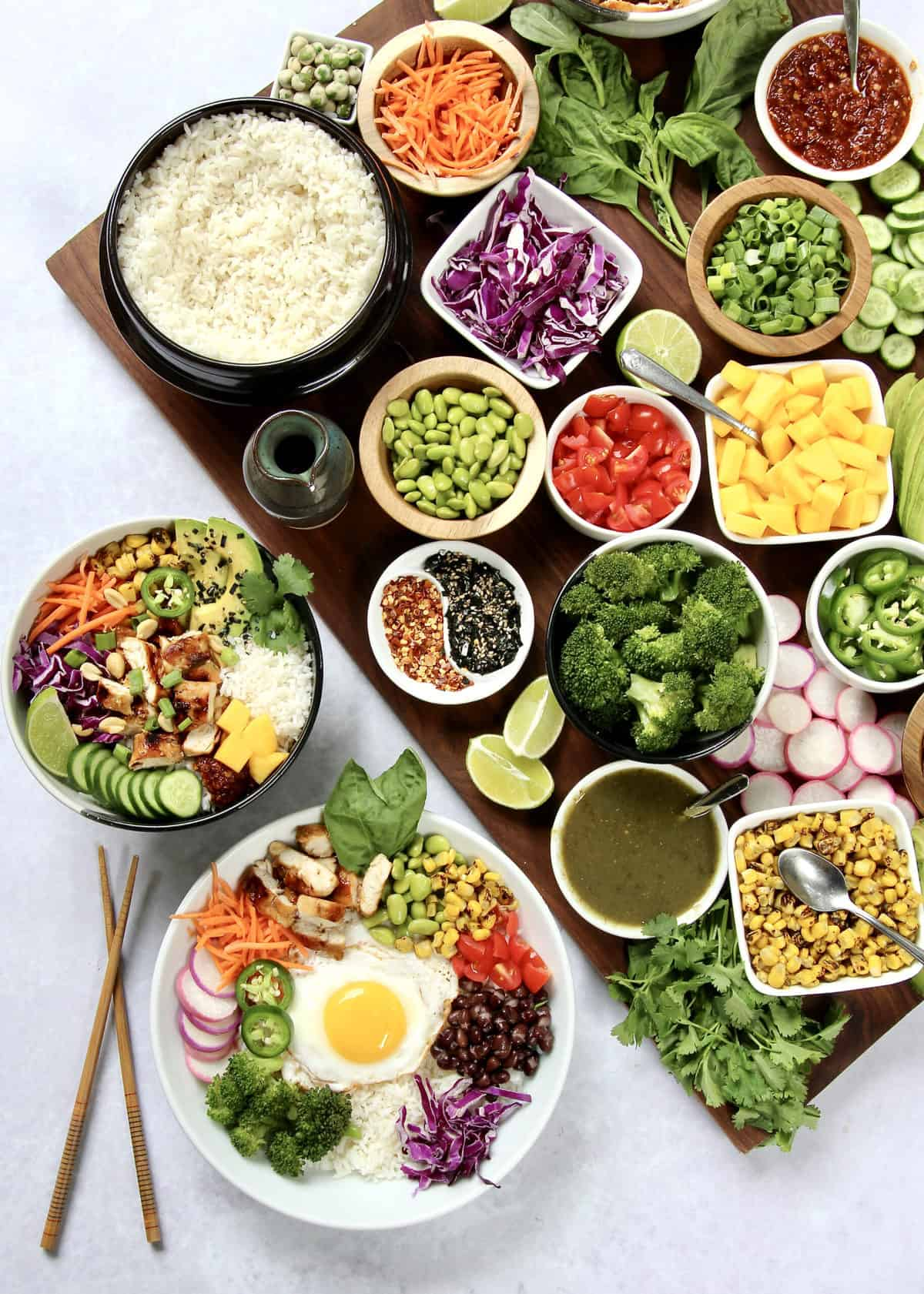 Build Your Own Rice Bowl Board by The BakerMama