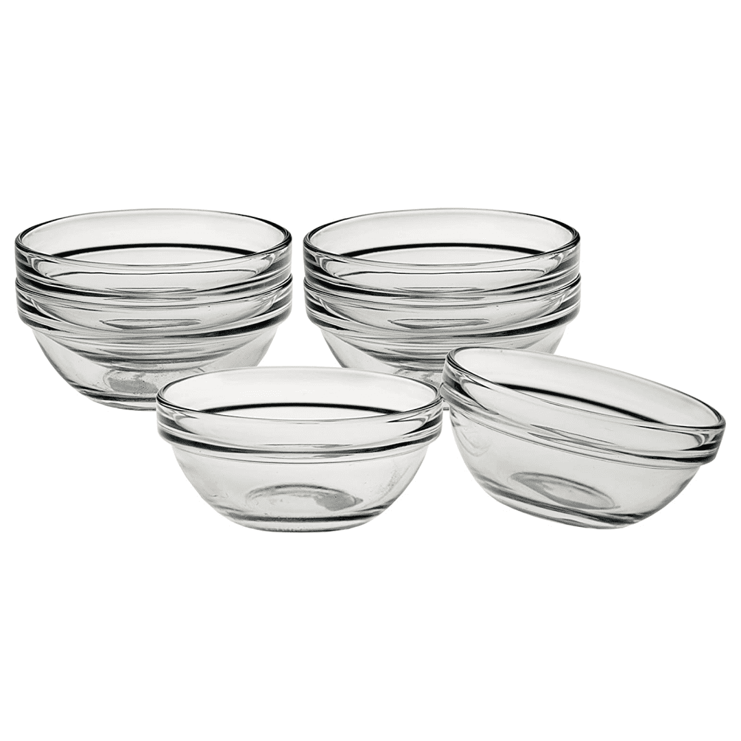 "3"" Glass Pinch Bowl Set"