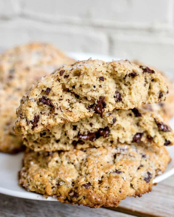 Chocolate Chunk Scones by The BakerMama