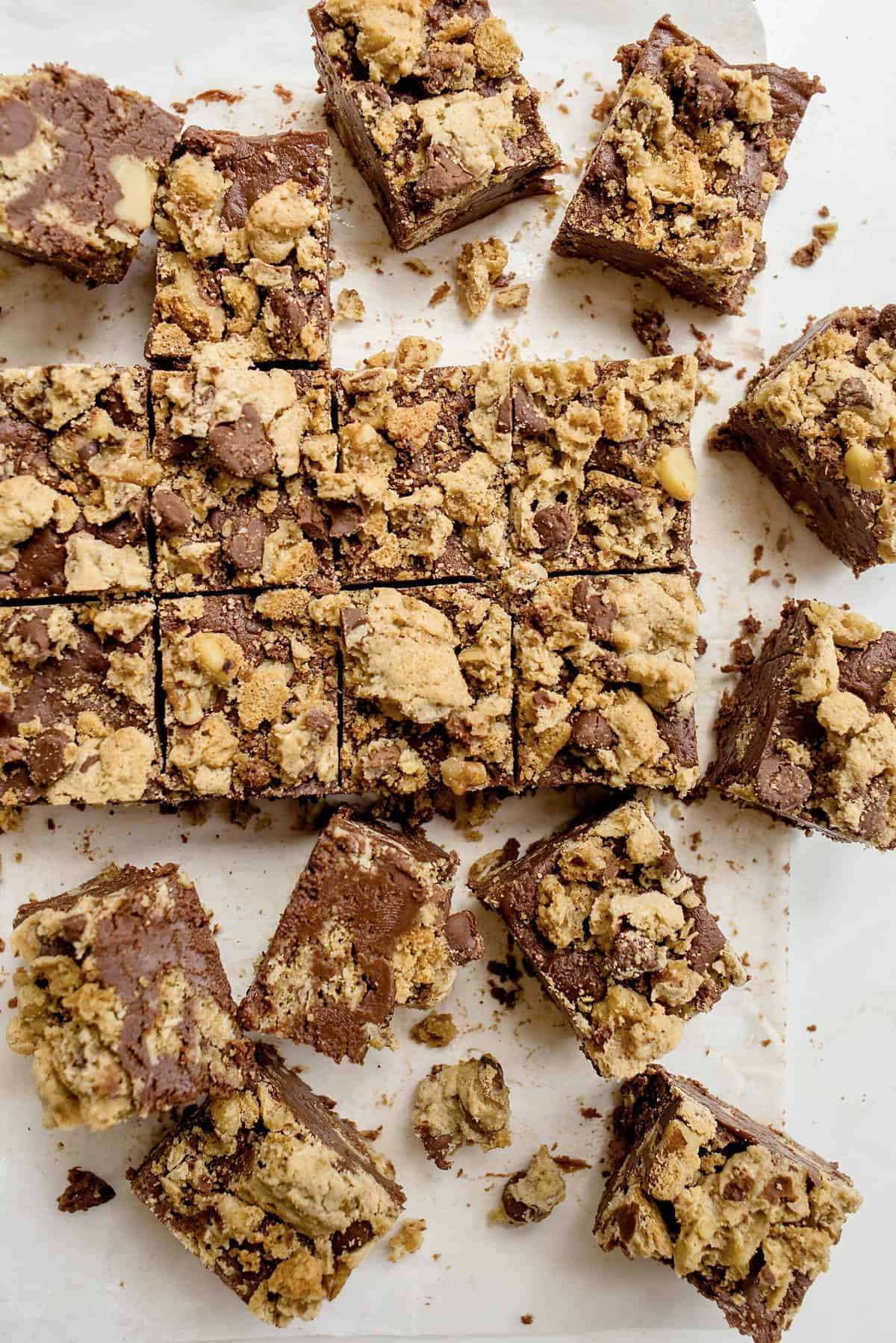Chocolate Chip Cookie Fudge by The BakerMama