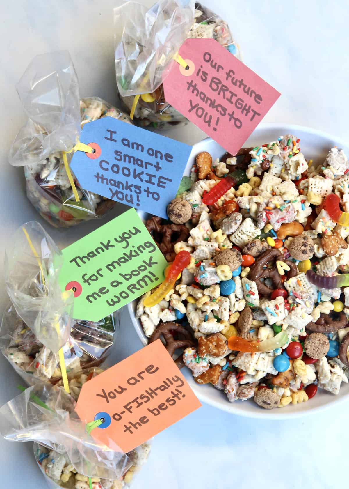 Teacher Appreciation Week Snack Mix by the BakerMama