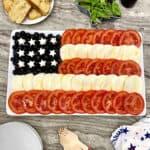 American Flag Caprese Salad