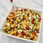 Grilled Corn Salad with Strawberries, Feta & Mint