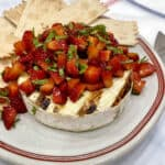 Grilled Brie with Strawberries by The BakerMama
