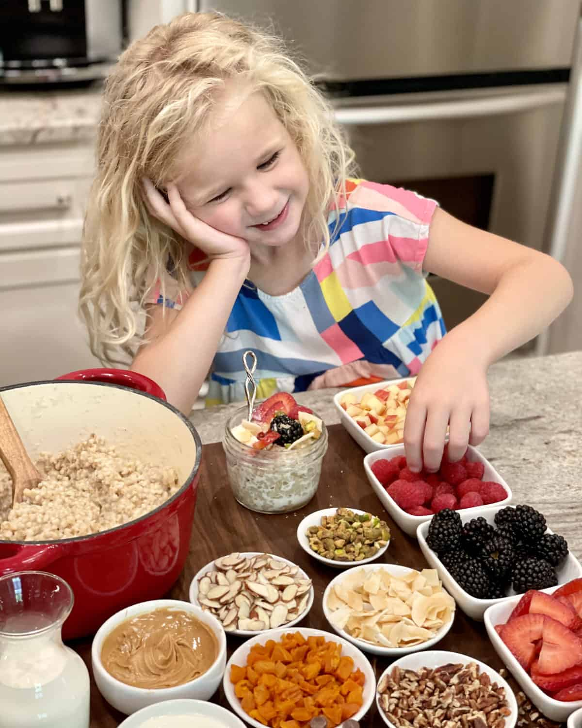 Top-Your-Own Oatmeal Board by The BakerMama