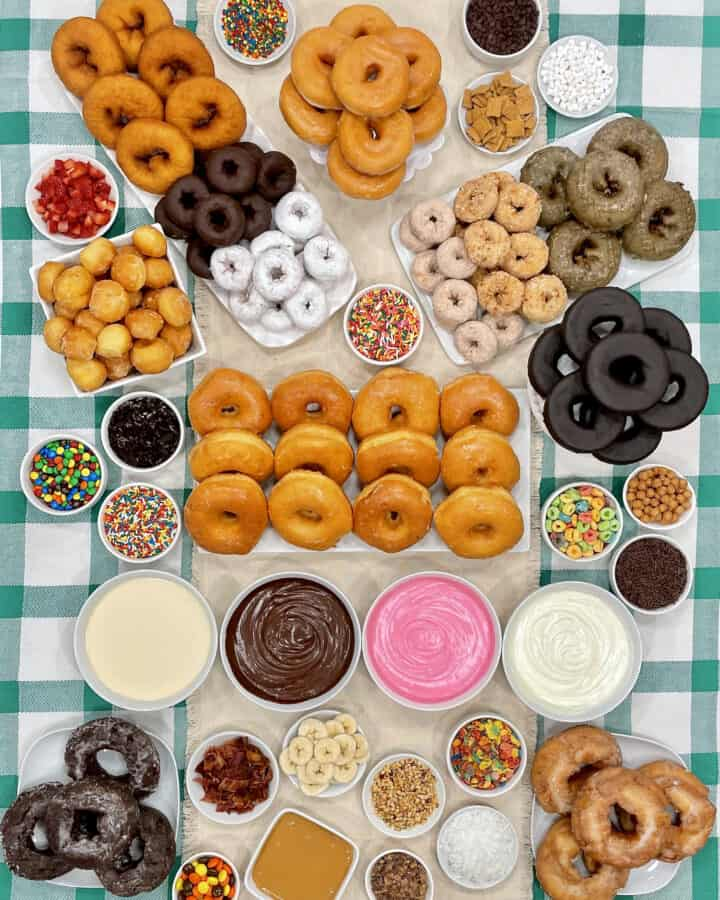 Decorate-Your-Own Donut Spread by The BakerMama