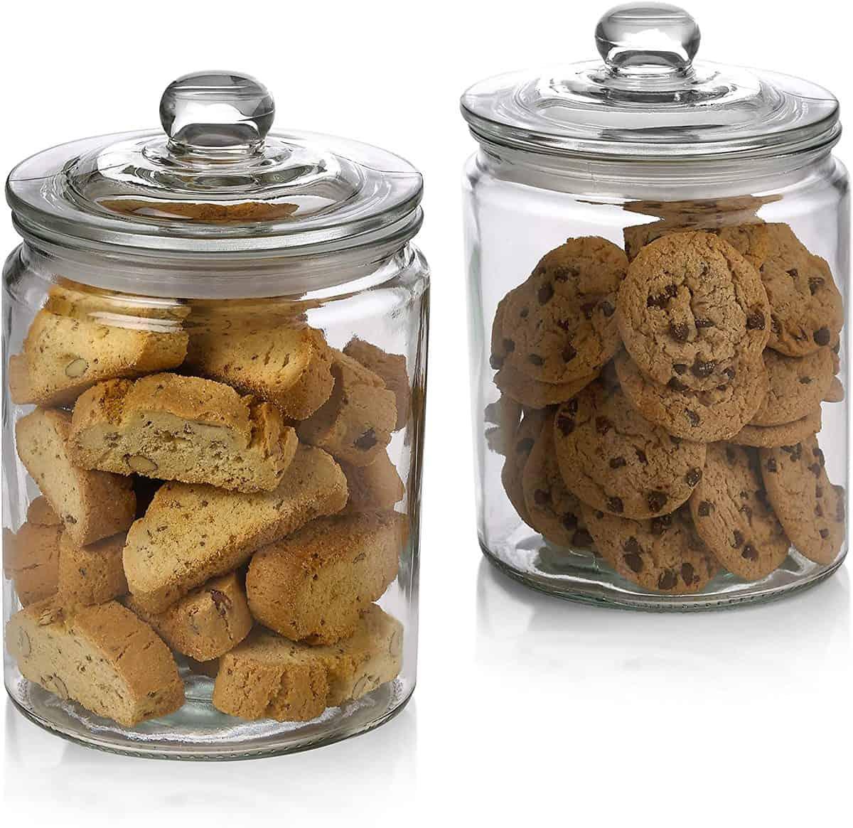 1 Gallon Airtight Clear Glass Food Jars