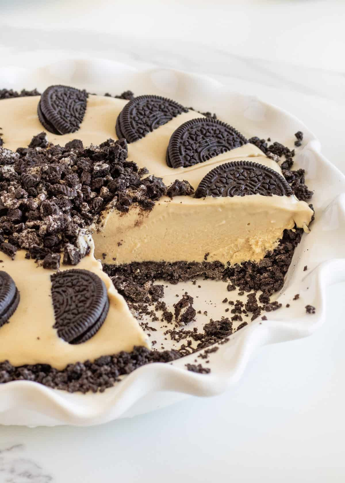 Chocolate Peanut Butter Ice Cream Pie by The BakerMama