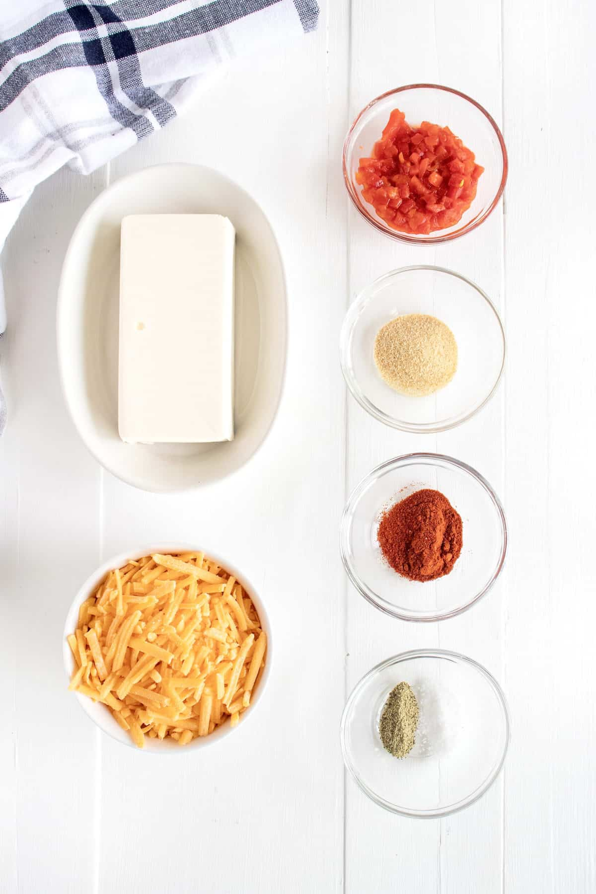 Ingredients for Pimento Cheese Dip by The BakerMama