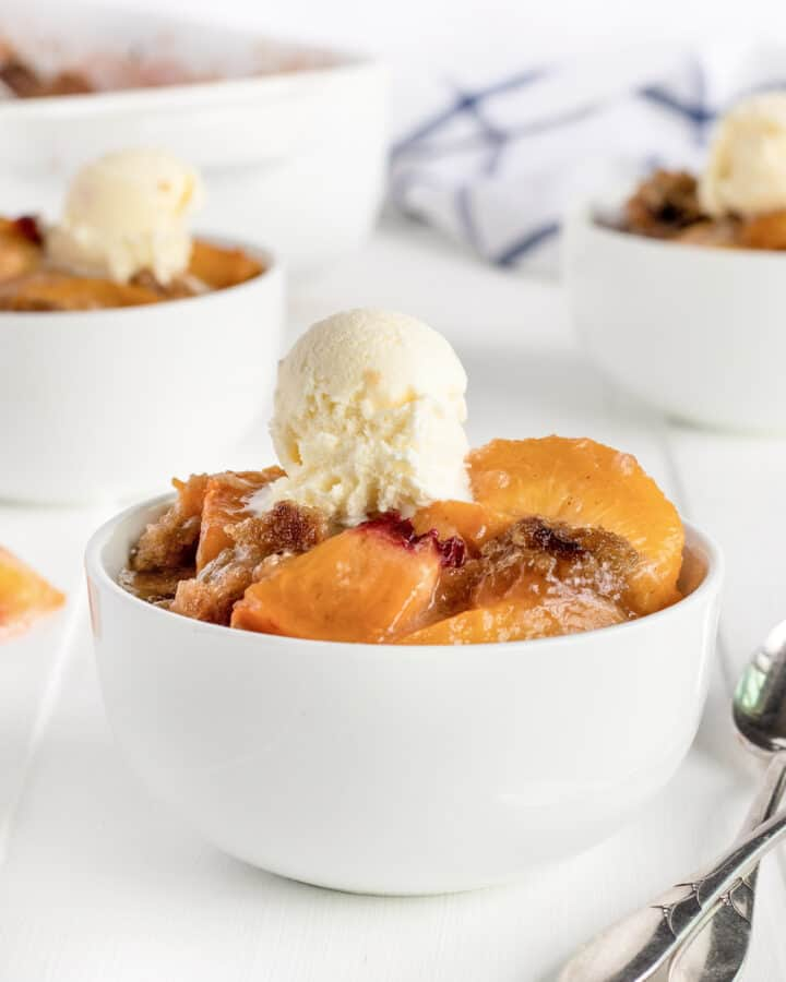 Fresh Peach Crumble by The BakerMama