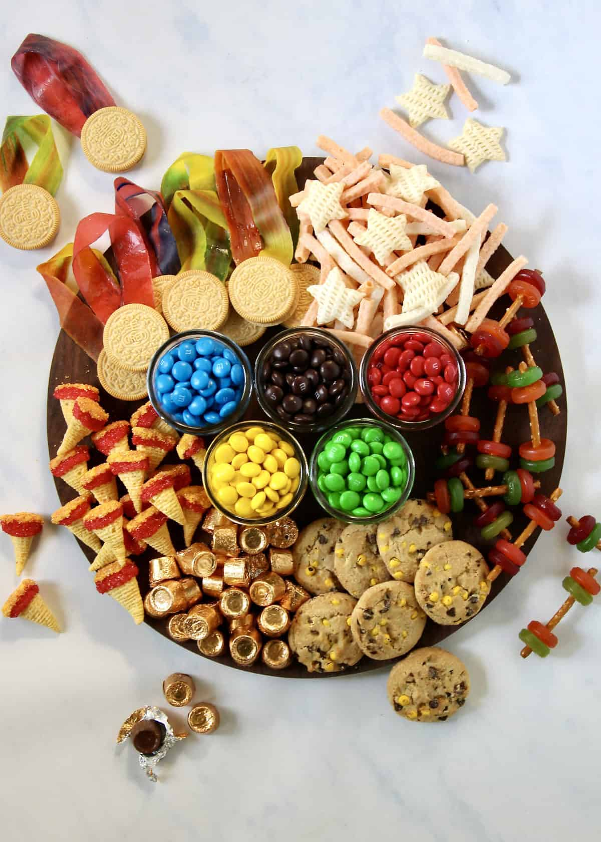 Olympics Snack Board by The BakerMama