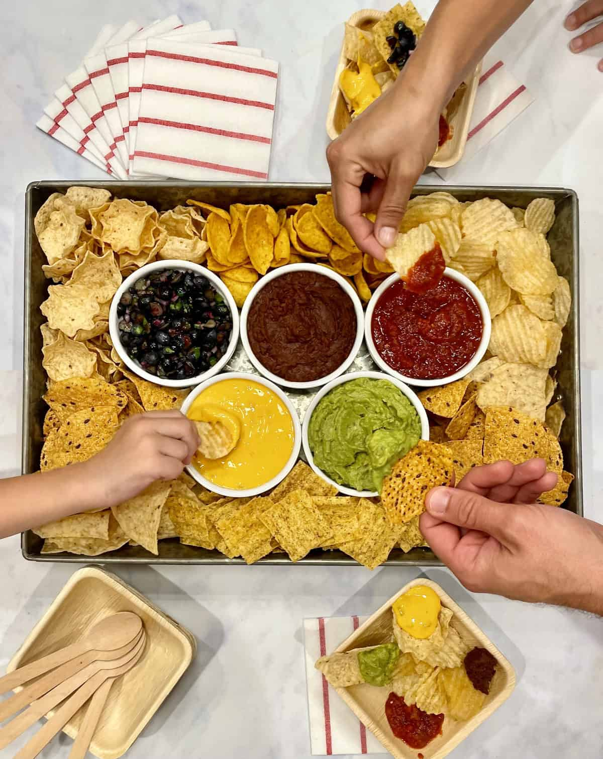 Olympics Chips and Dips Tray by The BakerMama
