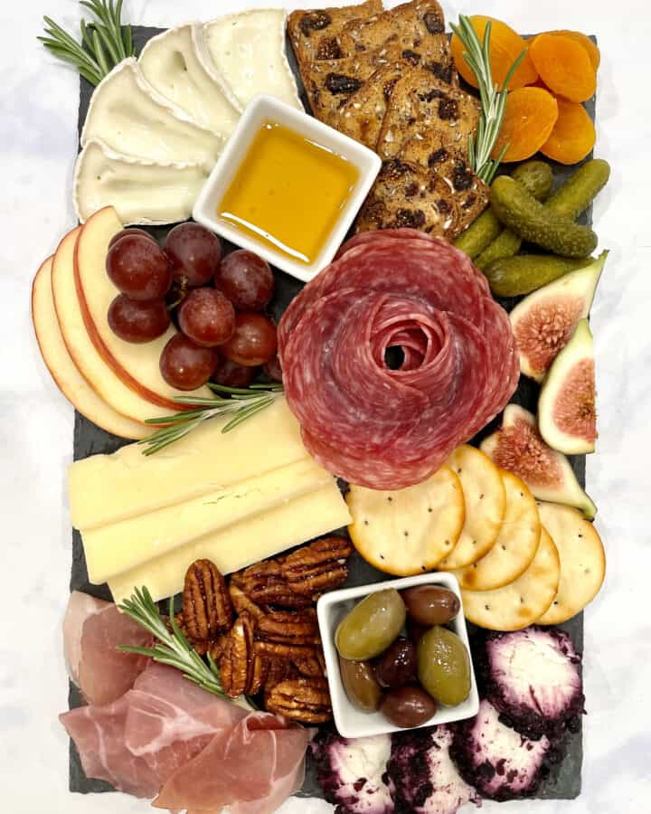 Trader Joe's Mini Cheese and Charcuterie Board by The BakerMama