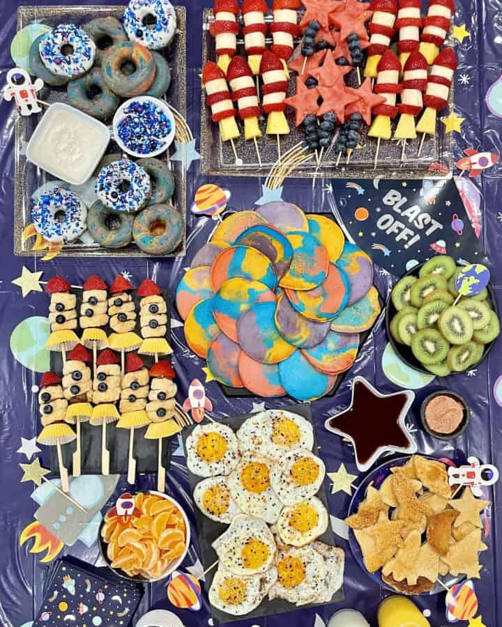 Blast Off! Breakfast Spread by The BakerMama
