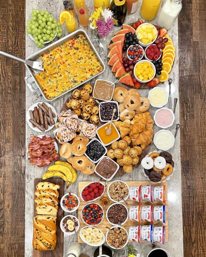 Brunch Spread with Friends by The BakerMama