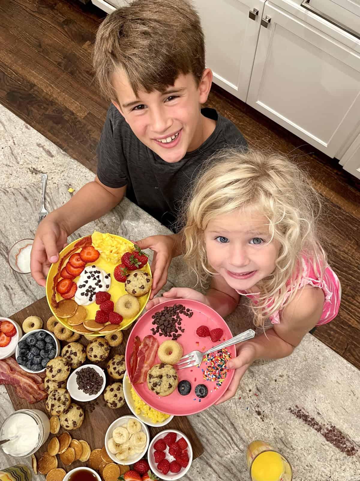Kid-Friendly Breakfast Board by The BakerMama