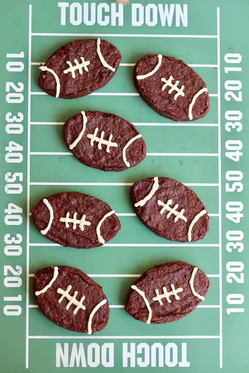 Football-Shaped Fudge Brownies by The BakerMama