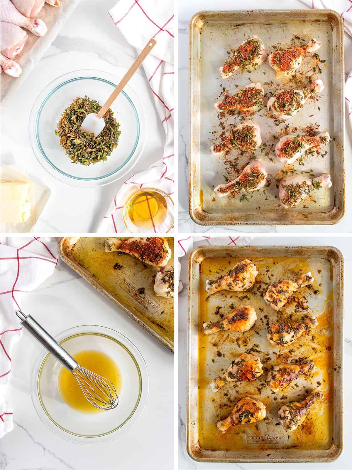 Honey Herb Roasted Chicken Drumsticks by The BakerMama