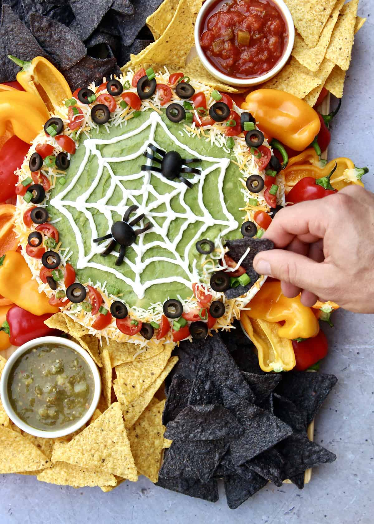Spiderweb Seven Layer Dip by The BakerMama